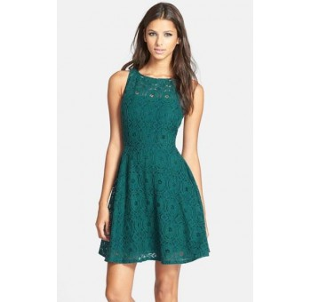 Lace Up Babydoll Dress