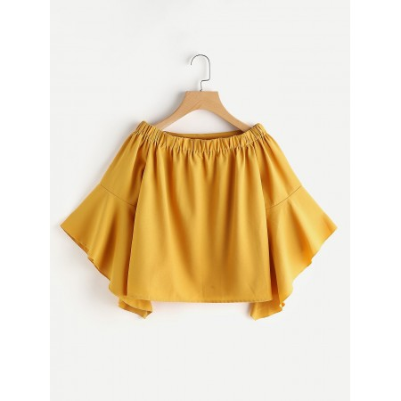 Simple Flared Yellow Top