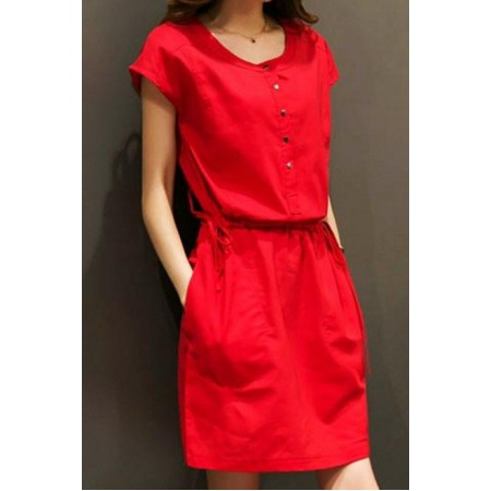 Red Hot Ravel Dress